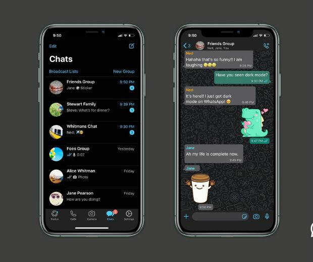 Enfim chegou: Whatsapp libera modo noturno após período de testes