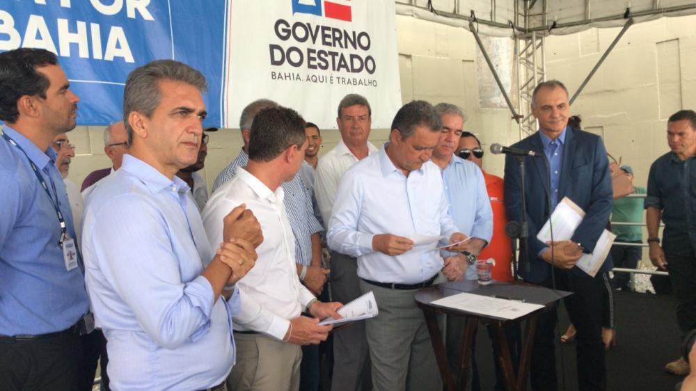 Rui inaugura obras de saneamento e abastecimento de água em Feira de Santana, beneficiando 100 mil moradores