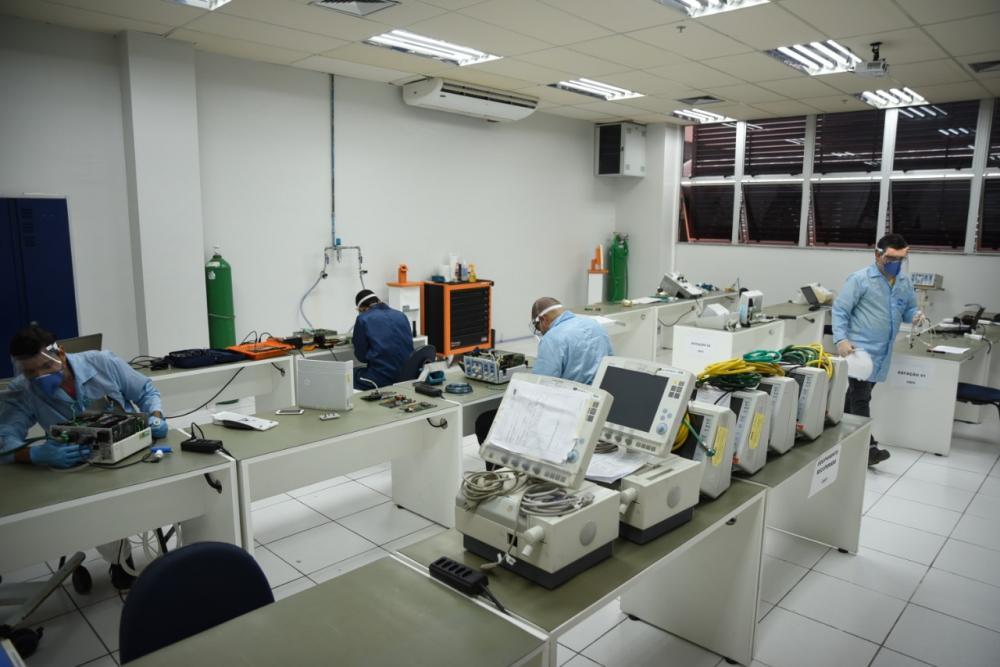 Senai Cimatec já reparou mais de 100 respiradores mecânicos