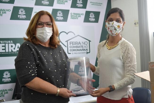 Prefeitura de Feira recebe 50 protetores faciais pelo projeto CoronaVidas
