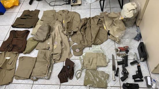 Suspeitos de integrar quadrilha que usava farda da PM para cometer crimes são presos