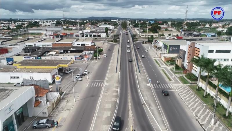 Imagens aéreas da Avenida Getúlio Vargas
